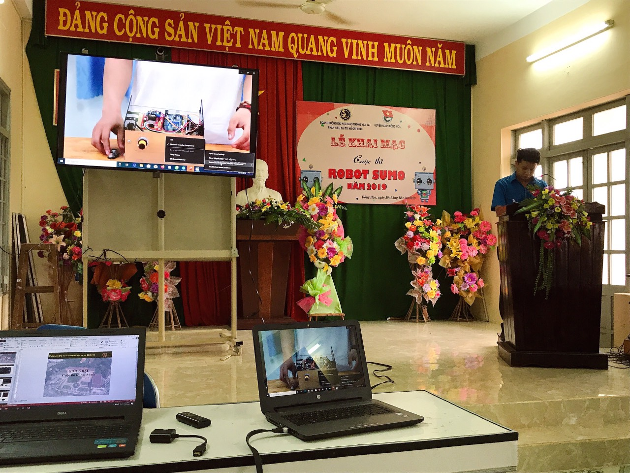 Opening ceremony and training course for 2019 Sumo Robot Contest in PHU YEN